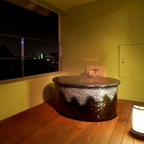 別館デラックス室 客室内露天風呂