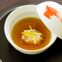 和風コンソメスープ 蟹の真薯を浮かべて