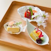 造里 淡路島産 桜鯛 鮪黄身醤油漬け 針魚唐墨まぶし