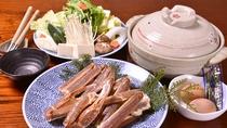 *お夕食一例(カニ鍋)/新鮮なカニをお鍋に。カニの出汁が更に美味しさを引き立ててくれます。
