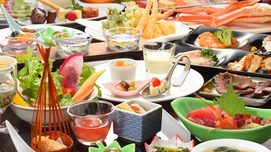 夕食バイキング料理(一例)