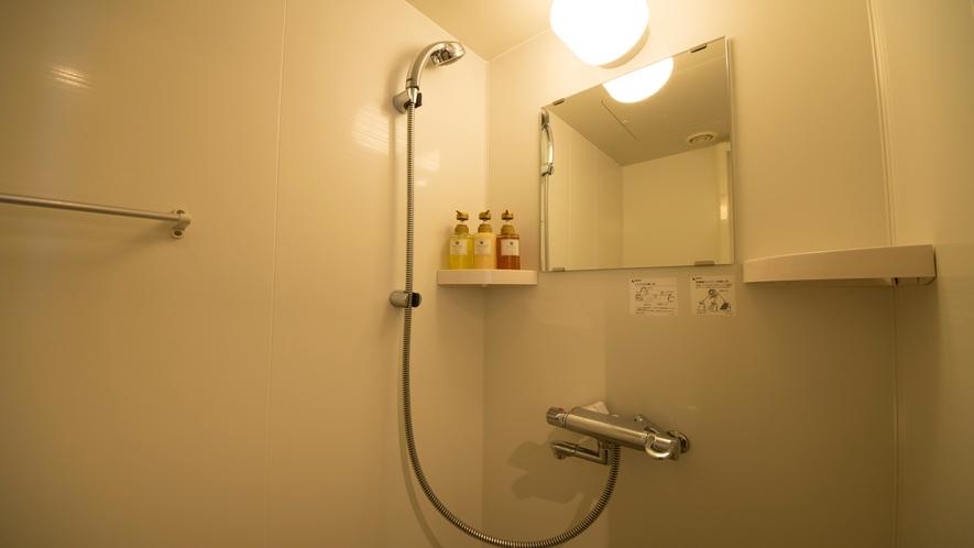 ■シャワールーム(シングル・ダブルルーム)