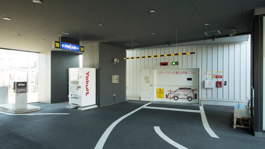 機械式立体駐車場入口