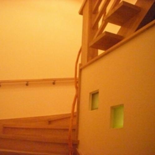 ホワイトアッシュの木階段