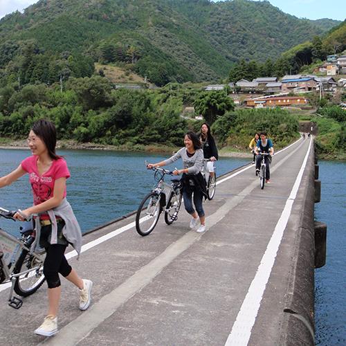 四万十川といえば沈下橋♪自転車で渡っちゃおう!