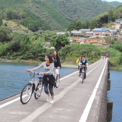 【サイクリング】【泊った翌日】乗り捨て可能レンタサイクルで四万十をチャリ旅<素泊まり>♪