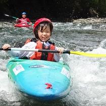 小学4年生以上ならお子様でもカヌー体験できますよ♪
