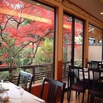 レストランから見る四季