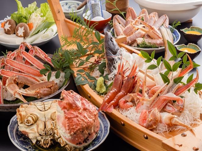 大ガニフルコースと鮮魚舟盛り付きでリーズナブルに海鮮三昧