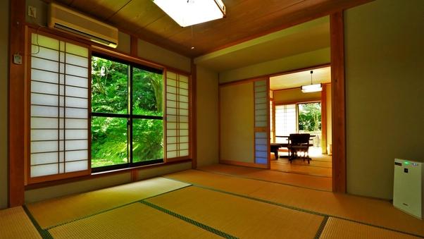【庭側】四季を感じる広々和室<トイレ付>