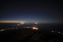 利尻山頂の夜