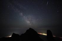 利尻山頂の満天の星空