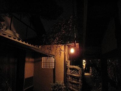 玄関への通路