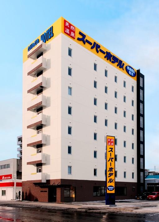 スーパーホテル旭川の外観です!赤レンガが街に溶け込みます!
