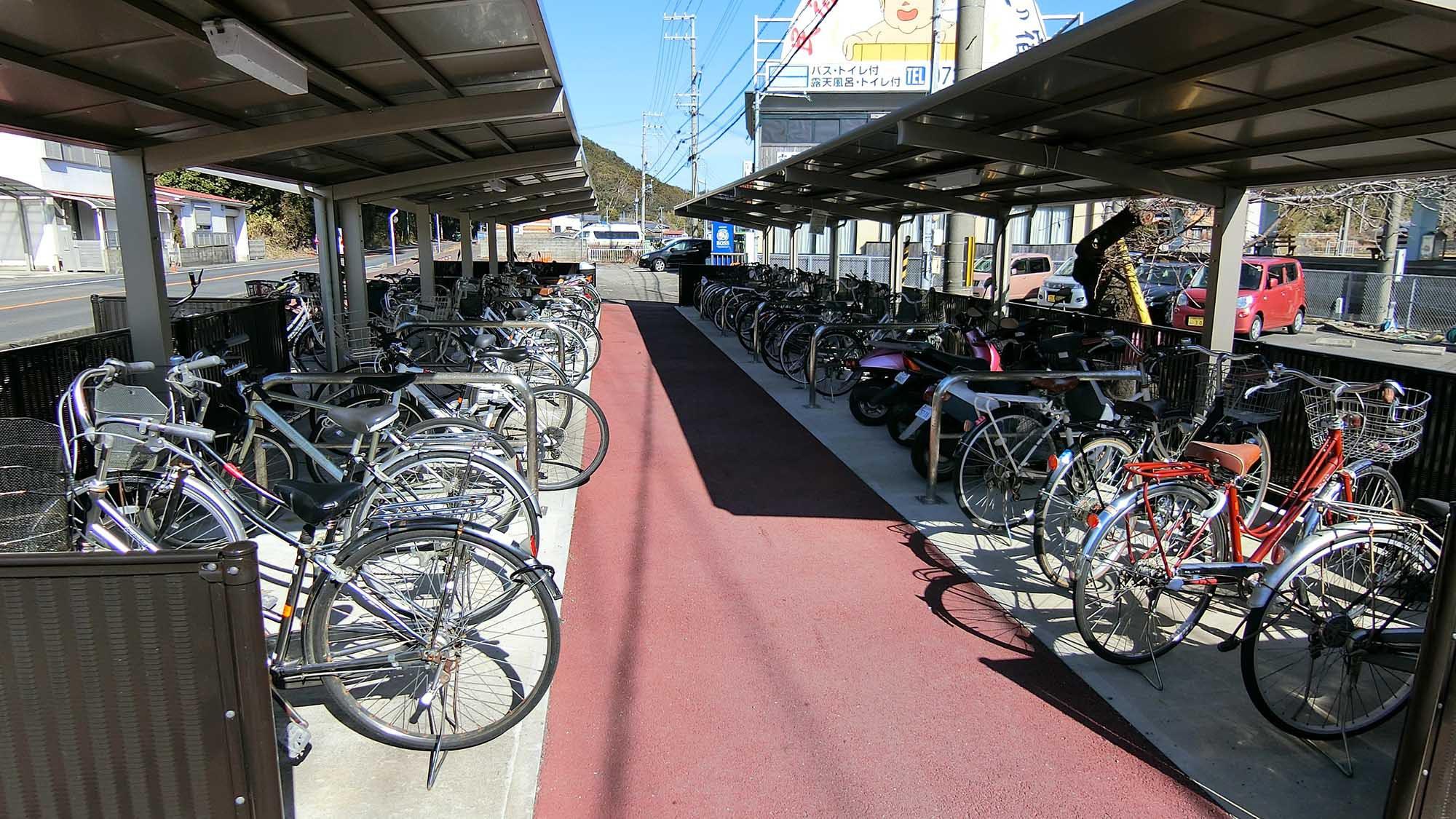 ・改札を出て右側に、自転車置き場を目指してお越しください
