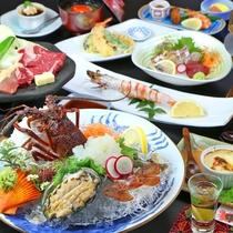 ■【2大味覚堪能コース】伊勢海老&あわびを贅沢に味わえます。天草のお料理を満喫されたい方は是非どうぞ