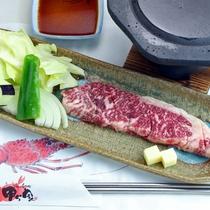 ■黒毛和牛の溶岩焼き/お料理一例