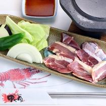 ■天草大王の溶岩焼き/お料理一例