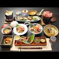 【特選会席】四季折々の旬の食材と、地元高島の食材の出会いが生む豊かな彩り。