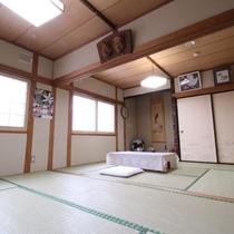 *和室12畳一例/広めの和室12畳は多人数のグループやファミリーにおすすめ!