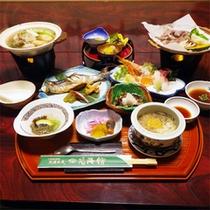 *夕食一例/山の幸、川の幸を中心においしさたっぷりの郷土料理をご用意致します。