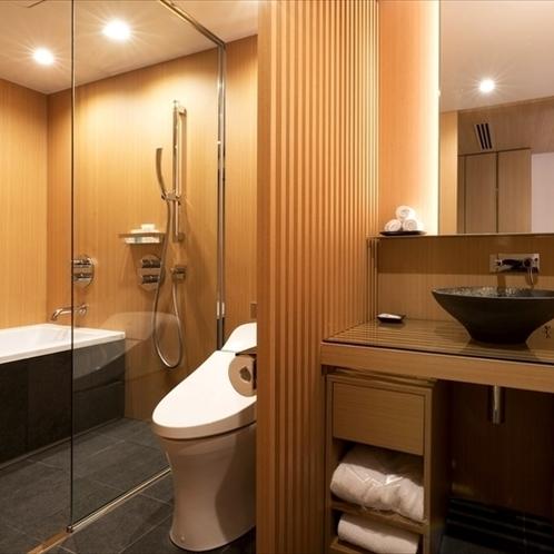 【アッパーフロア】キャッスルビューデラックスツインルーム:バスルーム