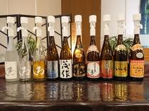九州各地のお酒をご準備