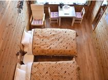 Aタイプ室 洋8畳 ロフトベッド付3