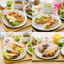主食は日替わりメニューからお好きなものを3種類!