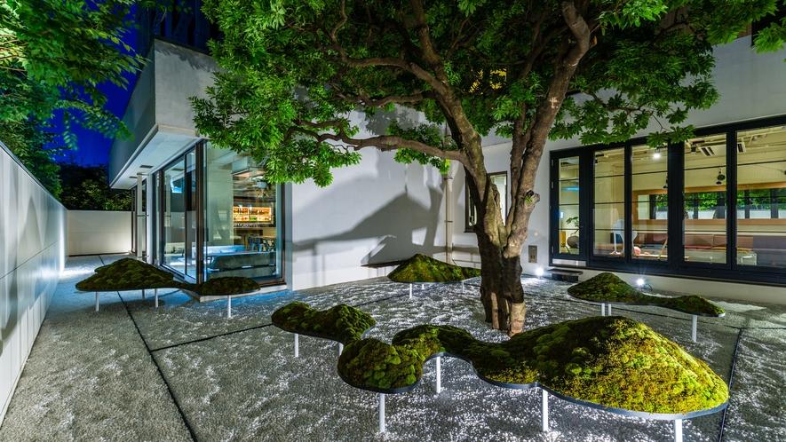 アンテルーム京都の中庭。