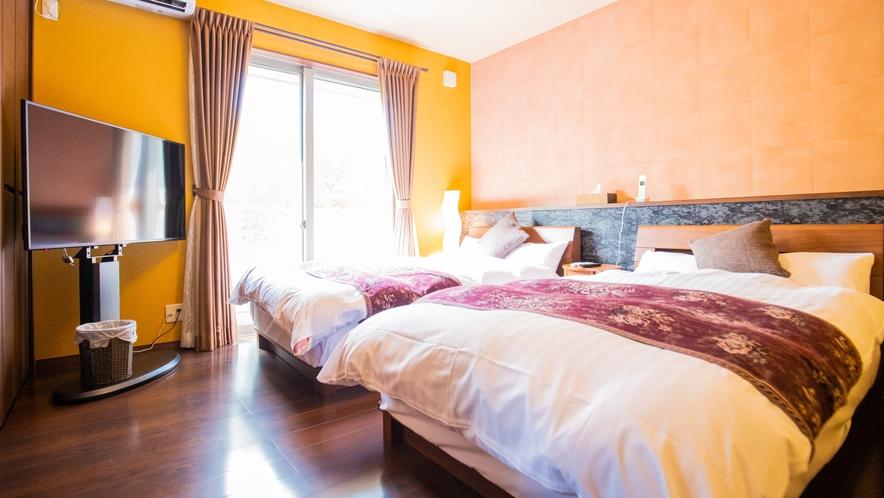 別邸:旅の疲れを癒すには最適なベッドルームです