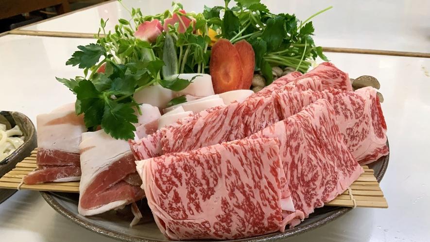 夕食:鹿児島県産 黒毛和牛/サーロインのしゃぶしゃぶ