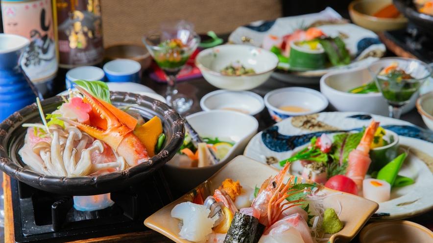 夕食:会席料理/北薩の旬の恵みを使用<一例>