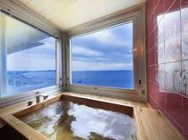 【ビューバス和室 月・花】平砂浦の絶景を独占できる檜風呂