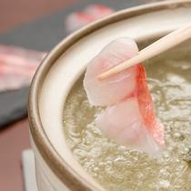 **【夕食一例】金目鯛のしゃぶしゃぶ