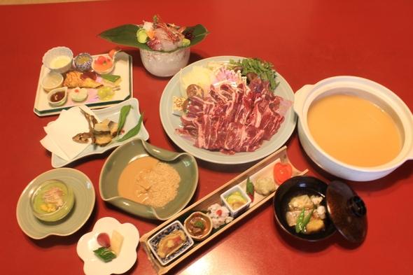 【お料理プラン】山の恵み「猪牡丹鍋」を愉しむ