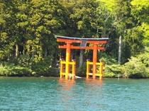 芦ノ湖からの箱根神社