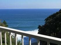 ツインルームのバルコニーからの眺望