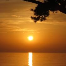 慶野松原の夕日