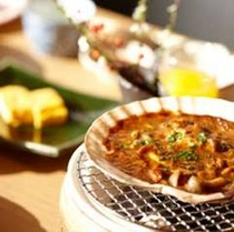 郷土料理の貝味噌焼き