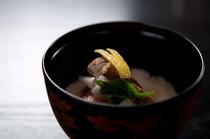 【お椀】焼甘鯛 松茸 芋茎 つる菜 口柚子*イメージ