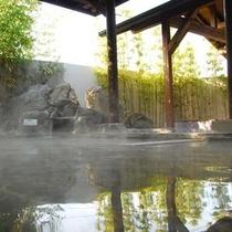 【露天風呂/七城温泉ドーム】露天風呂では季節の移ろいを感じながら、ゆったりと浸ってください。
