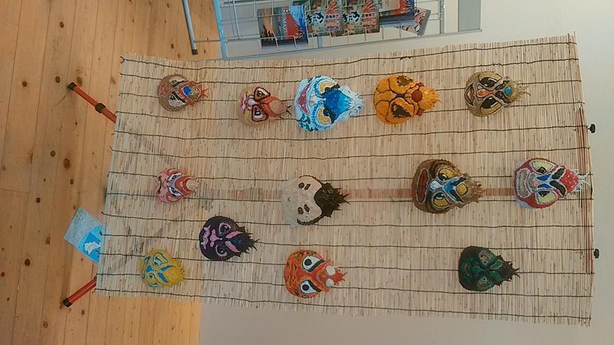 タカアシガニの甲羅のお面~さぁみんなも描いてみよう!