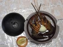 伊勢海老の陶板焼き