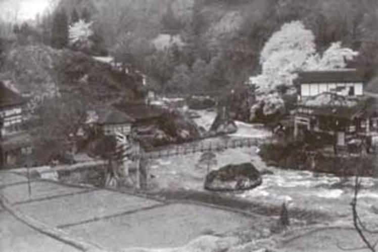 昭和30年代の玉梨温泉周辺