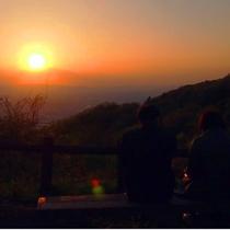 しばらく見入ってしまうほどの大阪平野の夕焼け