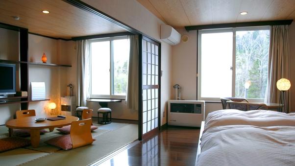 清流館◇和洋室/ベッドルーム+8畳和室・ユニットバス