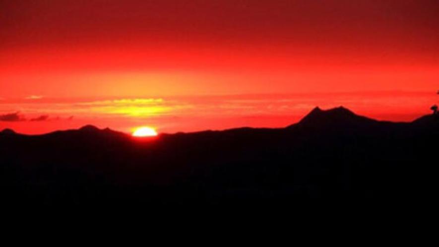 津別峠展望台から見た日の出