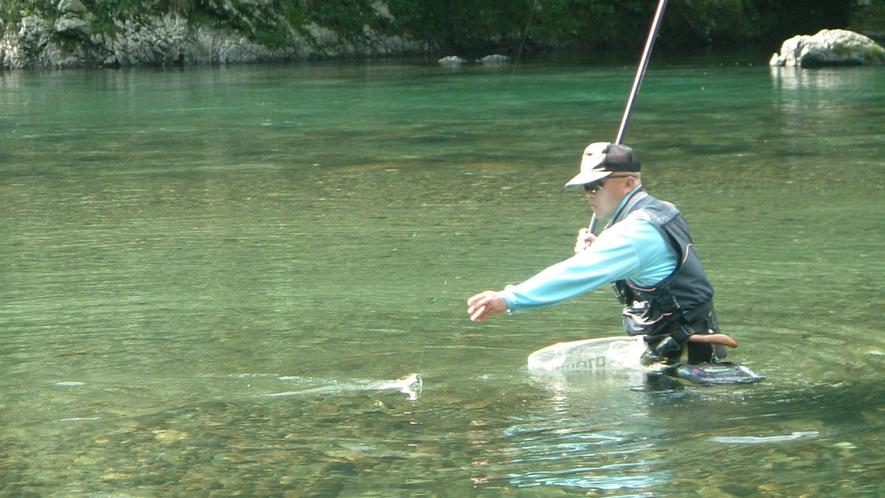 *新鮮な天然物の川魚を使っております。