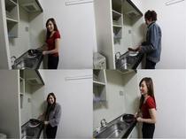 キッチン(IH1口)冷蔵庫・オーブンレンジ・炊飯器・電子ポット・調理器具・食器類等 ユニットタイプ